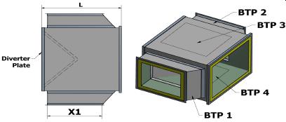 T Piece measurements